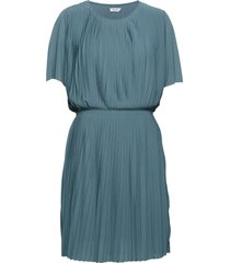 pleated dress kort klänning blå filippa k