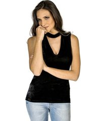 blusa veludo colcci feminino