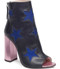 mesh star ankle boot shoes boots ankle boots ankle boot - heel blå tommy hilfiger