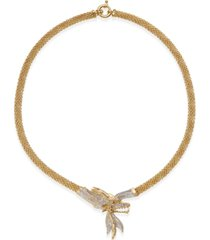 """diamond dragon 18"""" statement necklace (1-3/4 ct. t.w.) in 14k gold-plated sterling silver"""