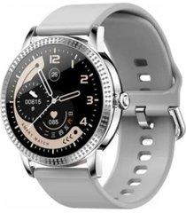 reloj inteligente gris goma todobags