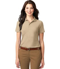 port authority l510 ladies stain-resistant polo shirt - stone