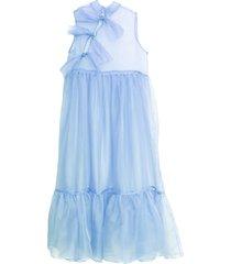 mae silk organza dress - cornflower