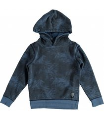 petrol blauwe sweater hoodie