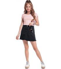 blusa amora manga curta rosa - rosa - menina - algodã£o - dafiti