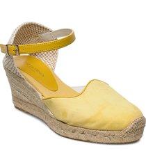 espadrille flat sandalette med klack espadrilles gul ilse jacobsen