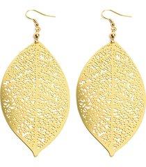 aretes de mujer dorado foglie brass colection by vestopazzo