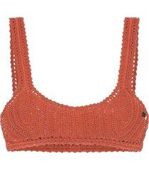 she made me classic crochet bikini top - orange