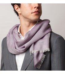 sciarpa da uomo, maalbi, cashmere seta viola, quattro stagioni | lanieri