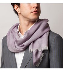 sciarpa da uomo, maalbi, cashmere seta viola, quattro stagioni