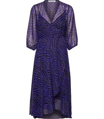 veneta dress aop 11243 jurk knielengte paars samsøe samsøe