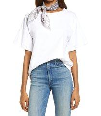 women's treasure & bond print square silk scarf, size one size - grey