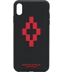 marcelo burlon county of milan 3d cross logo iphone xs max case -