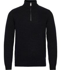 pullover long sleeve knitwear half zip jumpers svart marc o'polo
