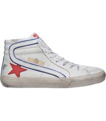 scarpe sneakers alte uomo in pelle slide