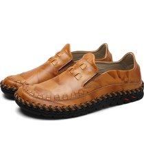 scarpe piatte in pelle vera