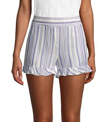 brisa stripe high-rise shorts