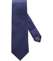 men's eton microdot silk tie, size regular - blue