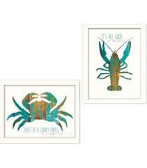 """trendy decor 4u it's all good at the beach collection by marla rae, printed wall art, ready to hang, white frame, 32"""" x 18"""""""