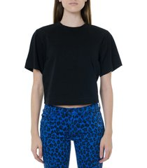 acne studios black cropped length t-shirt