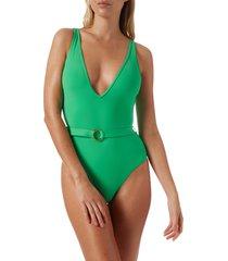 melissa odabash belize one-piece swimsuit, size 8 in verde at nordstrom