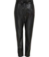 byxor onlpoptrash faux leather pant