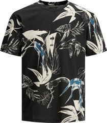 t-shirt jack & jones zwart print plus size