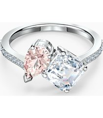 anello attract soul, rosa, placcato rodio