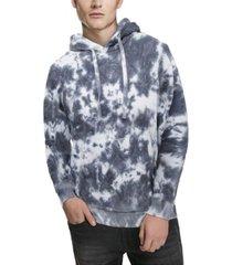 men's marbled tie dye pullover hoodie