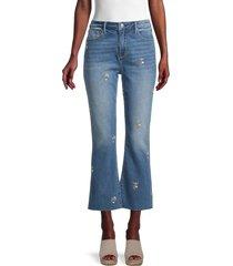 driftwood women's roxy x daisy cut jeans - medium wash - size 27 (4)