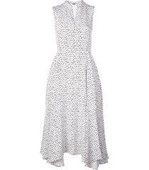 adam lippes all-over print dress - white