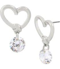 jessica simpson heart stone drop earrings