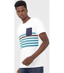 camiseta yachtsman listrada branca - branco - masculino - algodã£o - dafiti