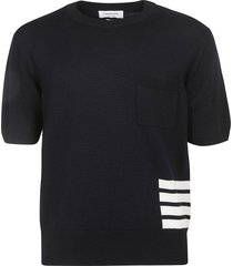 thom browne relaxed fit stitch sweater