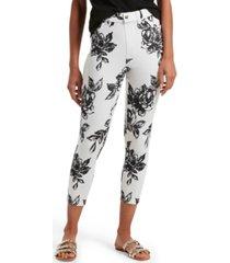 graphite rose ultra soft denim high waist capri leggings