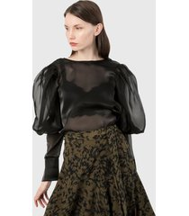 blusa  negra paris district
