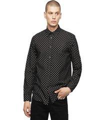 camisa s jirou shirt negro diesel