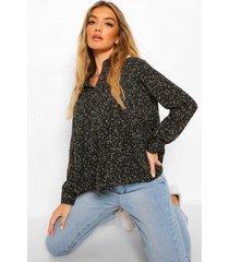 gesmokte blouse, multi