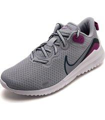 tenis running gris-violeta nike nike renew ride