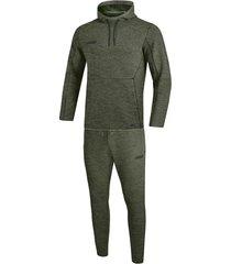 jako joggingpak met sweaterkap premium basics m9629-28 khaki