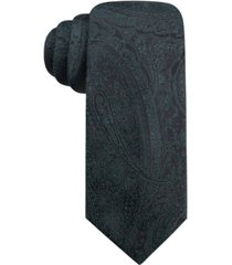 ryan seacrest distinction men's ramapo paisley slim silk tie, created for macy's