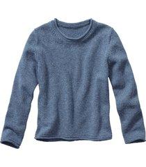 trui met ronde hals, jeansblauw 36/38
