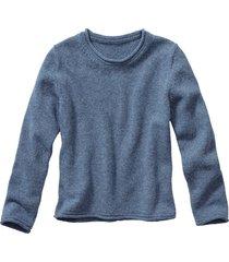 trui met ronde hals, jeans 44