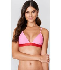 na-kd swimwear elastic triangle bikini top - pink