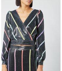 olivia rubin women's kendall top - black thin stripe - uk 14