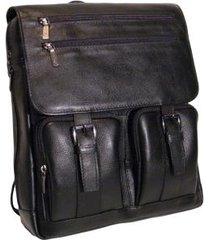 mochila para notebook e tablet em couro 9441
