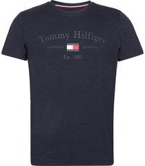 printed tee t-shirts short-sleeved blå tommy hilfiger