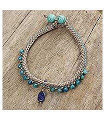 beaded gemstone bracelet, 'mae sa cascade' (thailand)