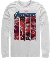 marvel men's avengers endgame panel logo, long sleeve t-shirt