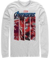 marvel men's avengers endgame panel logo, long sleeve t-shirt